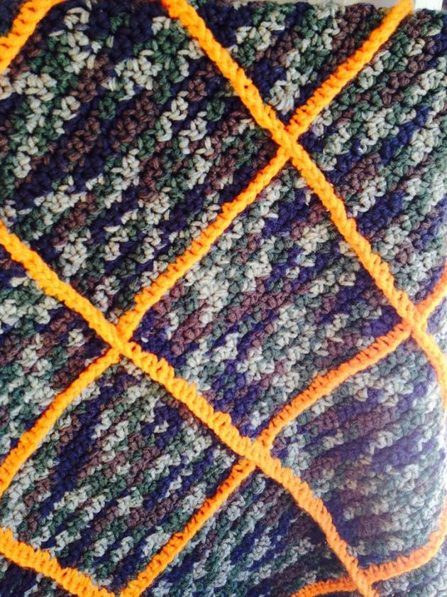 Crochet Stitches Grit : Camo Baby Afghan using Grit Stitch Jackatessas Blog